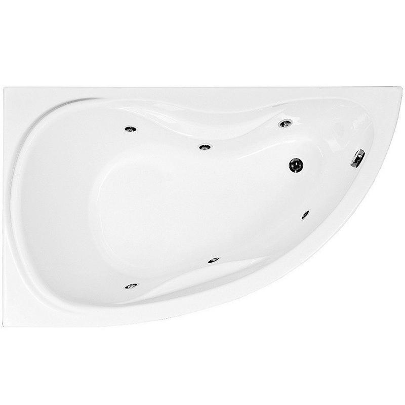Акриловая ванна Aquanet Maldiva 150x90 L 00204001+184067+204668 с гидромассажем
