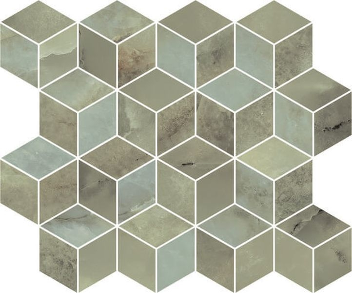 Керамический декор Kerama Marazzi Джардини зеленый мозаичный T017/14025 37,5х45 см