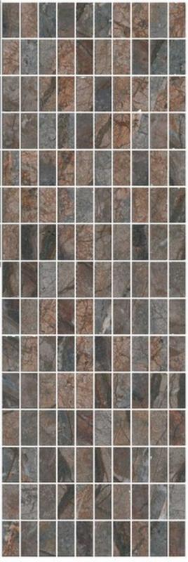 Керамический декор Kerama Marazzi Театро коричневый мозаичный MM12143 25х75 см
