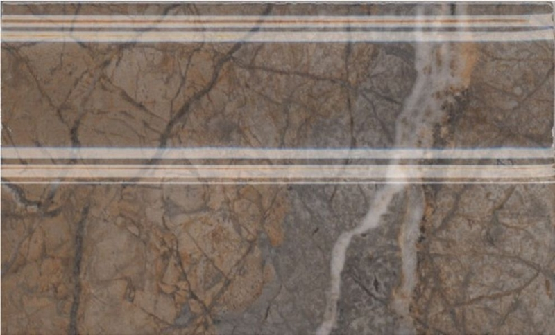 Керамический плинтус Kerama Marazzi Театро коричневый обрезной FMB023R 15х25 см