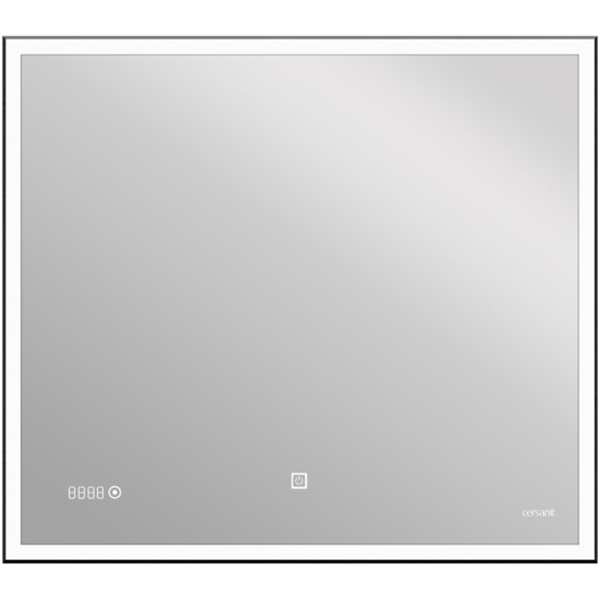 Зеркало Cersanit Led 011 Design 100 LU-LED011*100-d-Os с подсветкой с часами