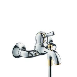 Carlton 17410000 ХромСмесители<br>Смеситель для ванны  Axor Carlton 17410000 однорычажный. Керамический узел смешивания, расход воды около 22 л/мин, штихмас 150 мм, защита от обратного тока воды, автоматическое переключение душ/ванна, шланговое подсоединение. Совместим с проточным водонагревателем.<br>