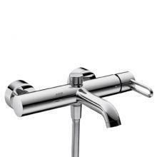 Uno-2 38420000 ХромСмесители<br>Смеситель для ванны Axor Uno-2 38420000 однорычажный. Керамический узел смешивания, расход воды около 22 л/мин, штихмас 150 ± 16 мм, защита от обратного тока воды, автоматическое переключение душ/ванна, шланговое подсоединение. Подходит для работы с проточным водонагревателем.<br>