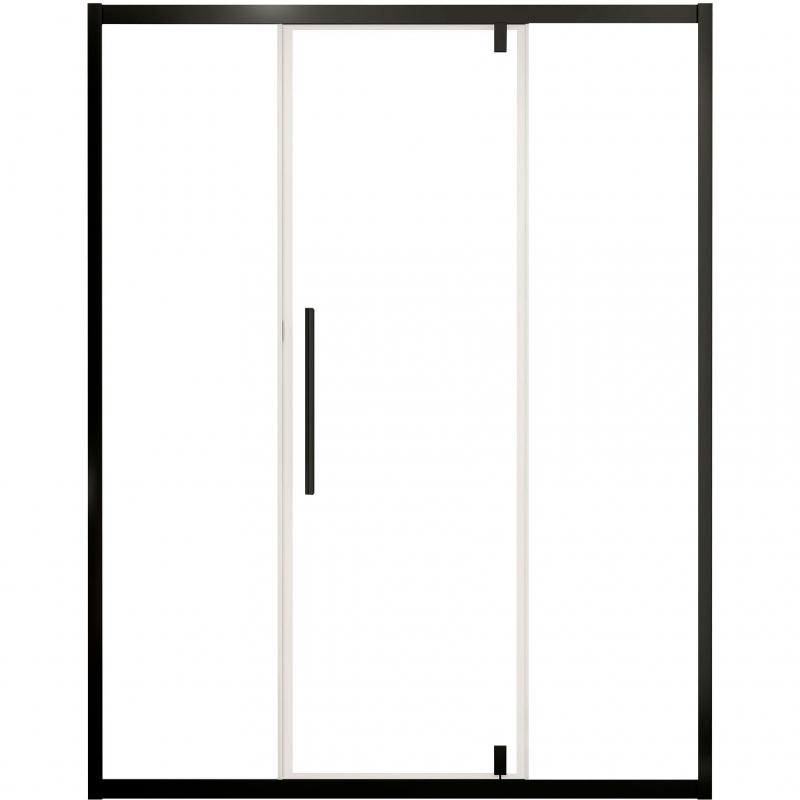 Фото - Душевая дверь Cerutti SPA Kelly D140B профиль Черный стекло прозрачное душевая дверь cerutti spa bella d81t 80х195 хром