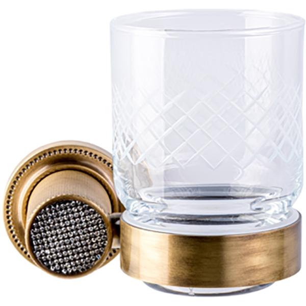 Стакан для зубных щеток Boheme Royal Cristal 10924-BR Бронза