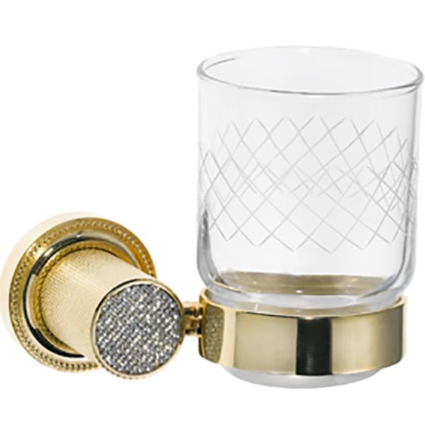 Стакан для зубных щеток Boheme Royal Cristal 10924-G Золото