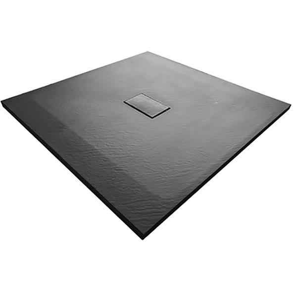 Душевой поддон из стеклопластика WasserKRAFT Elbe 74T19 100x100 Черный
