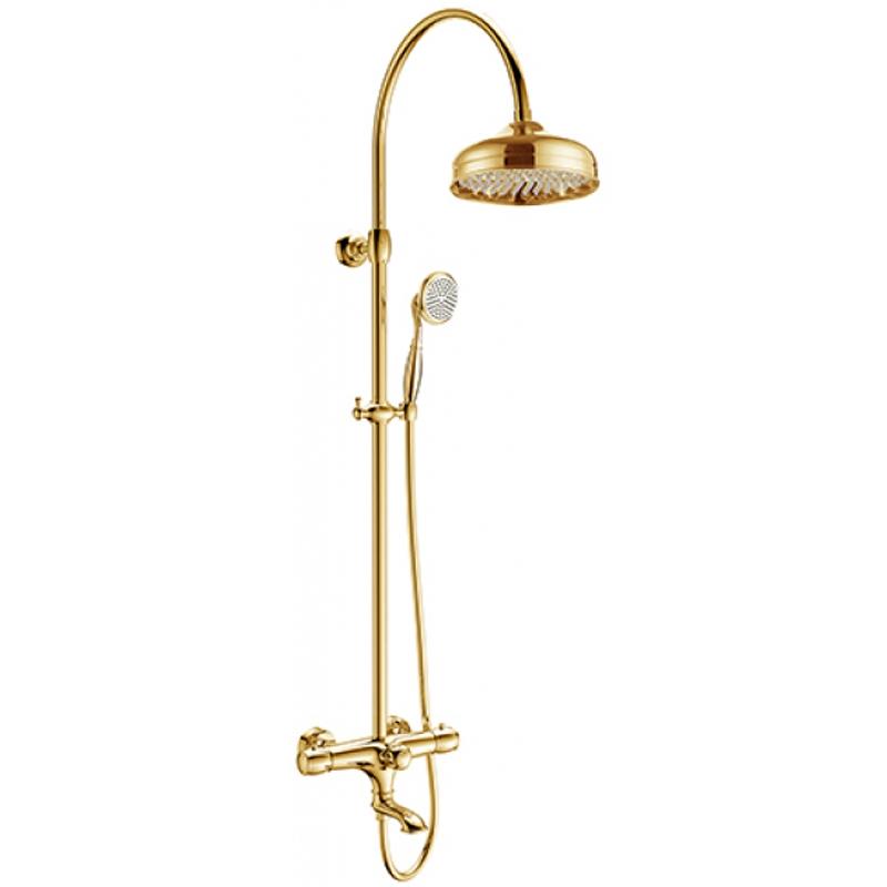Душевая система Kaiser Aria 03182-3 с термостатом Золото