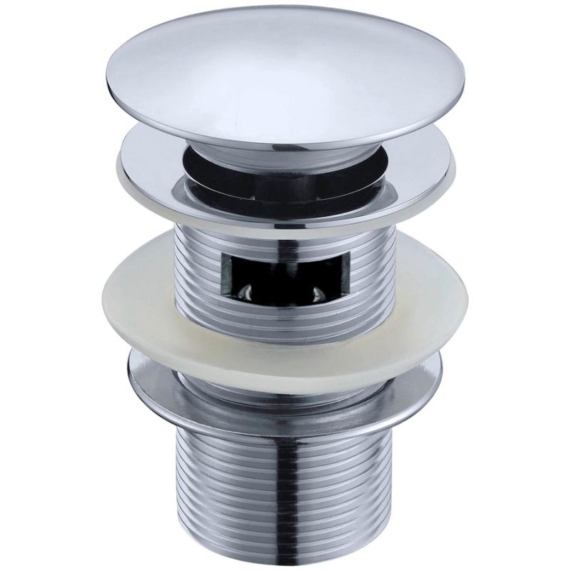 Донный клапан Boheme Brillante 612/2 click-clack с переливом Хром донный клапан kaiser click clack квадрат с переливом хром 8034