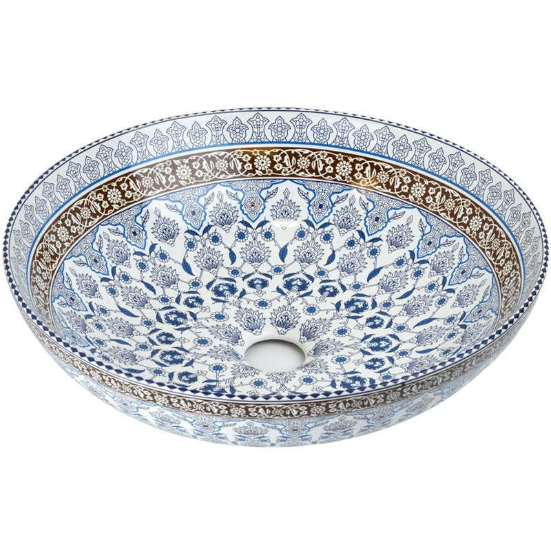Раковина-чаша Bronze de Luxe Марракеш 40 1008 Белый глянец с декором раковина bronze de luxe 1616