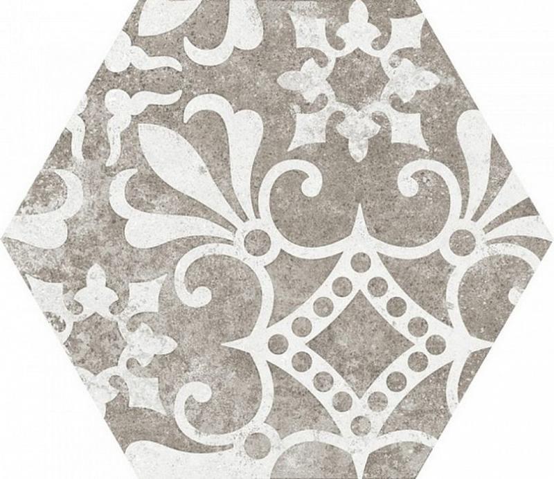 Керамогранит Equipe Hexatile Cement Garden Grey New 22099 17,5х20 см