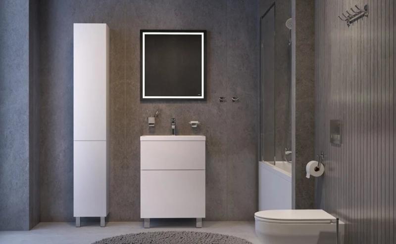 Комплект акриловой ванны AM.PM Gem 170х70 UK90SC с каркасом с унитазом с инсталляцией с комплектом смесителей и душевым гарнитуром с мебелью и аксессуарами