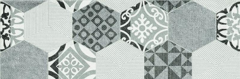 Керамический декор Ceramika Konskie Portis Hexagons 25х75 см