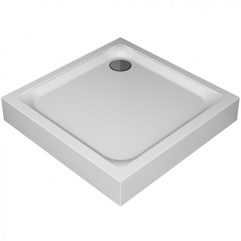 Поддон для душа из ABS-пластика AM.PM Gem 90x90 W90T-403-090W без антискользящего покрытия