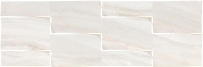 Керамическая плитка Argenta Lira Prisma White настенная 25х75 см