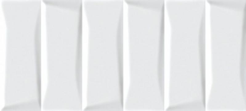 Керамическая плитка Cersanit Evolution рельеф кирпичи белый EVG053 настенная 20х44 см