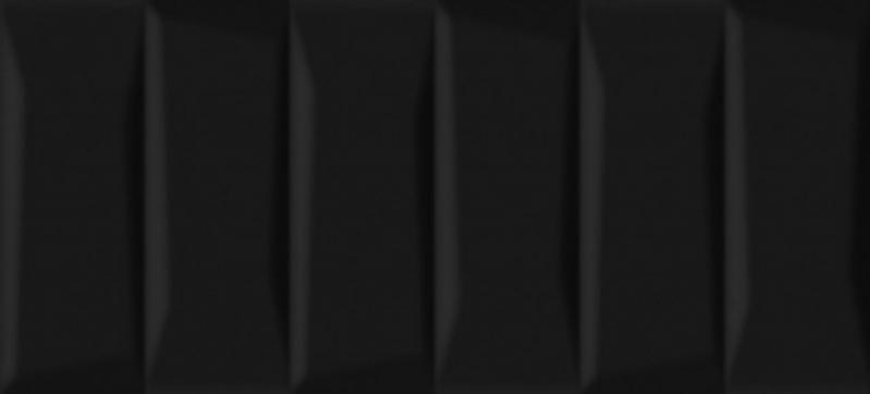 Керамическая плитка Cersanit Evolution рельеф кирпичи черный EVG233 настенная 20х44 см