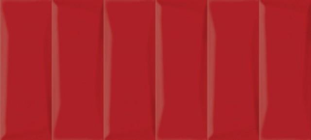 Керамическая плитка Cersanit Evolution рельеф кирпичи красный EVG413 настенная 20х44 см