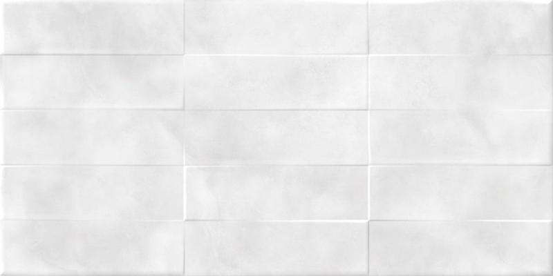 Керамическая плитка Cersanit Carly рельеф кирпичи светло-серый CSL523D настенная 29,8х59,8 см