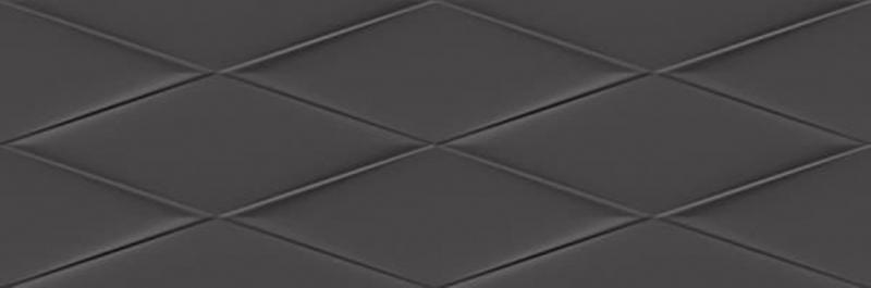 Керамическая плитка Cersanit Vegas рельеф черный VGU232 настенная 25х75 см