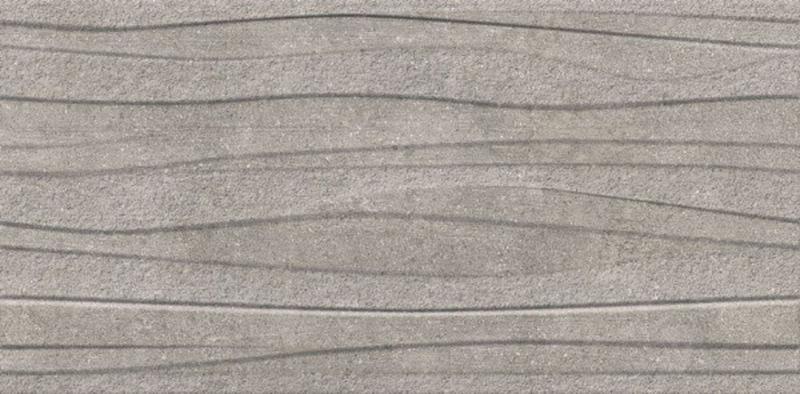 Керамический декор Vitra Newcon 3D Серебристо-Серый Рект K947823R00 30х60 см