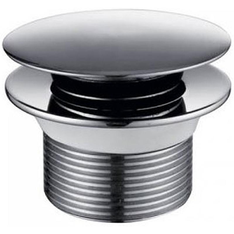 Донный клапан Kaiser 8004В click-clack Хром донный клапан kaiser click clack квадрат с переливом хром 8034