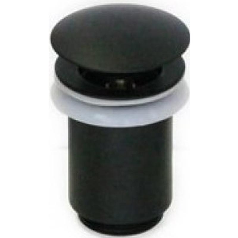 Донный клапан Kaiser 8011Bl click-clack Черный донный клапан kaiser click clack квадрат с переливом хром 8034