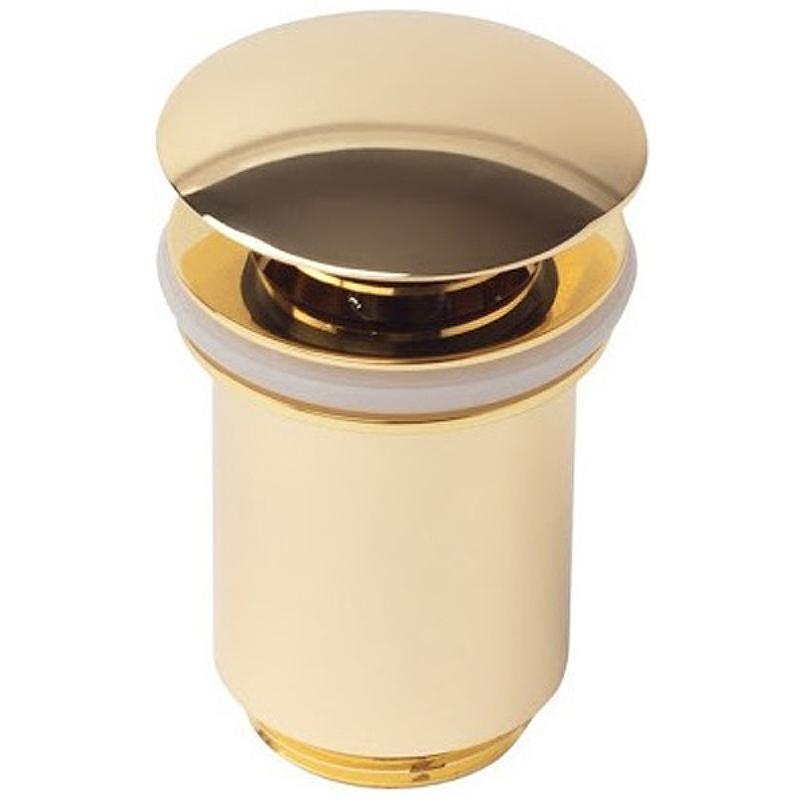 Донный клапан Kaiser 8011GOLD click-clack Золото донный клапан kaiser click clack квадрат с переливом хром 8034
