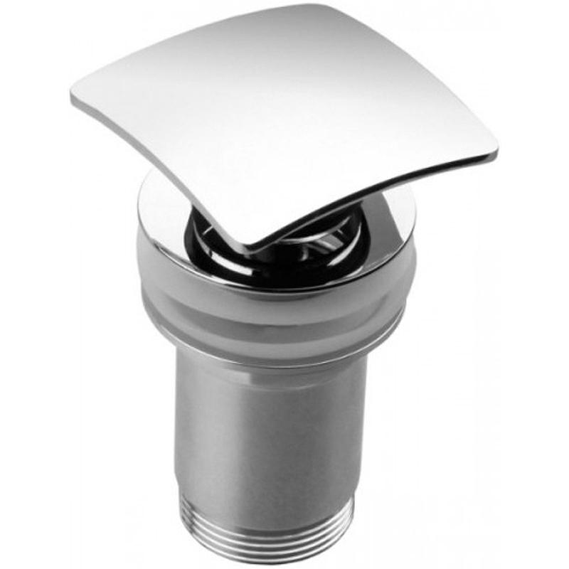 Донный клапан Kaiser 8034 click-clack Хром донный клапан kaiser click clack квадрат с переливом хром 8034