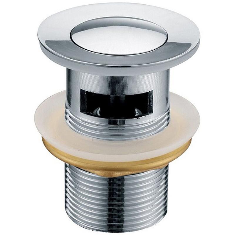 Донный клапан Kaiser 8035 click-clack Хром донный клапан kaiser click clack квадрат с переливом хром 8034