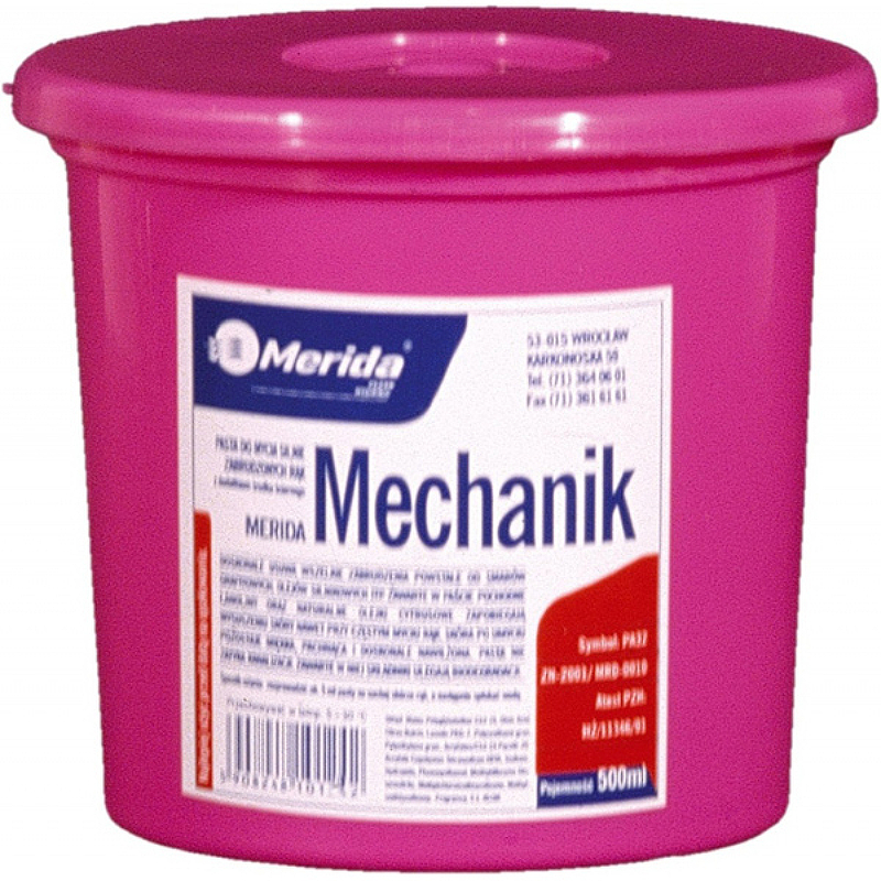 Паста для мытья сильно загрязненных рук Merida Mechanik PA32 500 гр