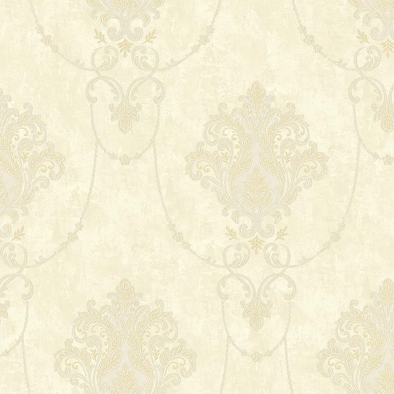 Фото - Обои Bernardo Bartalucci Beatrice 5016-3 Винил на флизелине (1,06*10,05) Бежевый, Дамаск beatrice mautino bez parabenów