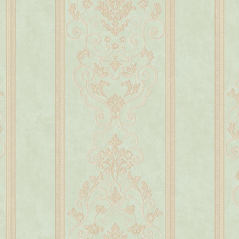 Обои Bernardo Bartalucci Beatrice 5017-5 Винил на флизелине (1,06*10,05) Зеленый, Полоса