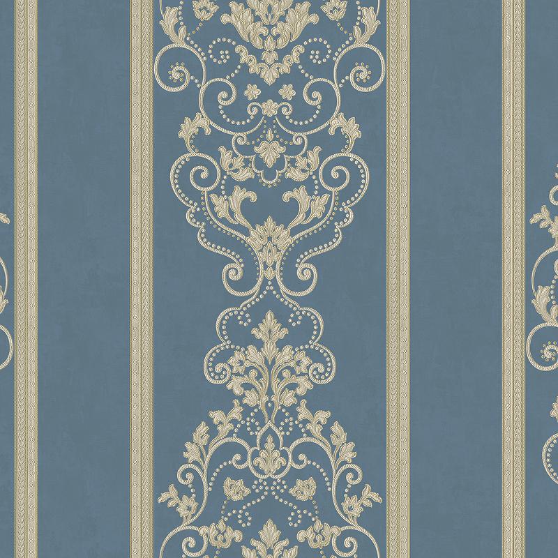 Обои Bernardo Bartalucci Beatrice 5017-6 Винил на флизелине (1,06*10,05) Синий, Полоса