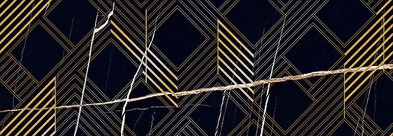 Керамический декор Керлайф Royal Nero Oro 24,2х70 см