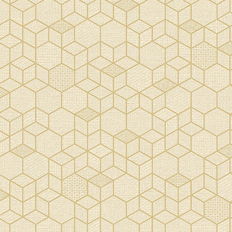 Обои Andrea Rossi Arlequin 54302-2 Винил на флизелине (1,06*10,05) Бежевый, Геометрия