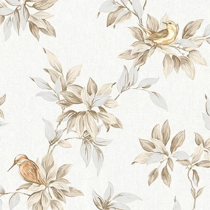 Обои Andrea Rossi Arlequin 54304-1 Винил на флизелине (1,06*10,05) Бежевый, Птицы