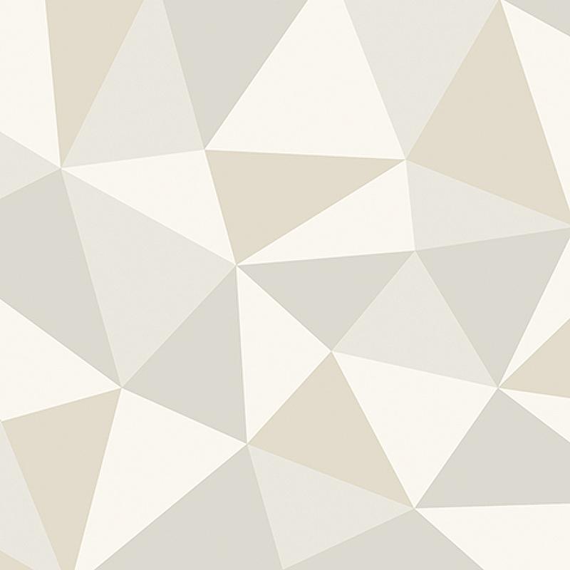 Обои Andrea Rossi Arlequin 54307-2 Винил на флизелине (1,06*10,05) Бежевый, Геометрия