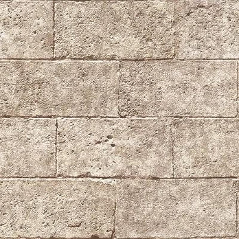 Обои Andrea Rossi Procida 54248-3 Винил на флизелине (1,06*10,05) Коричневый, Геометрия/Кирпич
