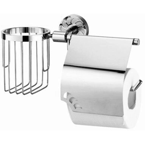 Держатель туалетной бумаги и освежителя воздуха WasserKRAFT Isen K-4059 Хром держатель туалетной бумаги wasserkraft isen k 4025 с крышкой хром
