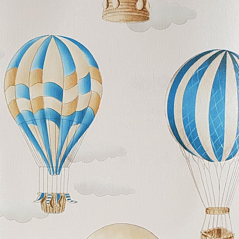 Обои детские G'BOYA Kaleidoskope 240392 Винил на флизелине (1,06*10,05) Бежевый, Воздушные шары