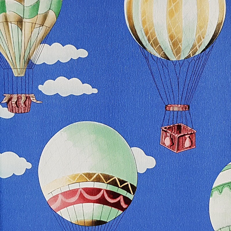 Обои детские G'BOYA Kaleidoskope 240395 Винил на флизелине (1,06*10,05) Синий, Воздушные шары