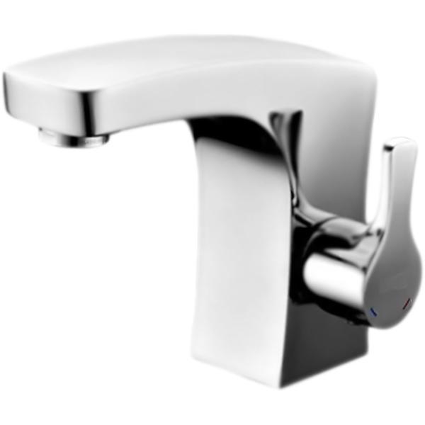 Berkel 4803 ХромСмесители<br><br>Смеситель для раковины Wasser Kraft Berkel 4803 однорычажный, с аэратором, монтируемый в одно отверстие.<br><br><br>Современный дизайн: плавные обтекаемые формы соединены с четкими и прямыми линиями.<br>Экономия: ограничитель расхода воды до 5 литров в минуту.<br>Система защиты от известковых отложений.<br>Покрытие: хромоникелевое.<br>Материал: высококачественная латунь.<br>Фиксированный излив: L 10,6 см.<br>Механизм: керамический картридж Sedal (Испания), D 2,5 см.<br>Ресурс картриджа: 500000 открытий/закрытий.<br>Рабочее/максимальное давление: 1-5/9 Бар.<br>Рабочая температура: 65-90 градусов.<br>Аэратор: встроенный, пластиковый, Neoperl Honeycomb (Германия).<br>Регулируемый угол наклона струй.<br>Гибкая подводка: Sedal (Испания), G 1/2, L 37 см.<br><br><br>В комплекте поставки:<br>смеситель;<br>гибкая подводка;<br>комплект креплений.<br><br>