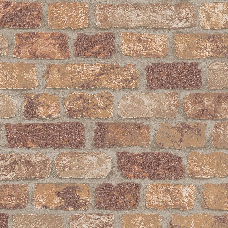 Обои Marburg Brique 97984 Флизелин (1,06*10,05) Оранжевый/Коричневый, Кирпич