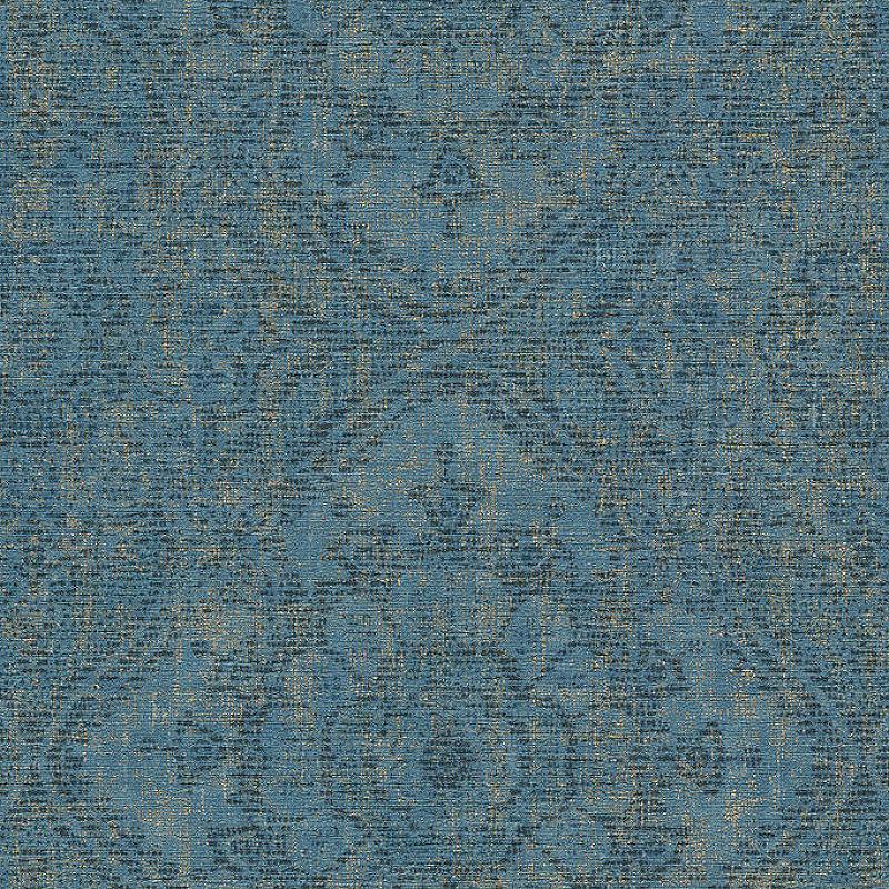 Обои Grandeco Clarence CR 3105 Винил на флизелине (0,53*10,05) Синий, Орнамент