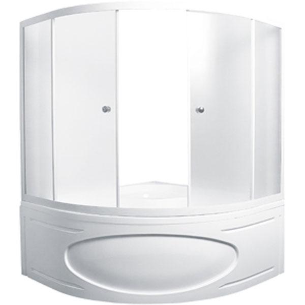 цена на Шторка на ванну 1MarKa Afrodita 150 профиль Белый стекло матовое