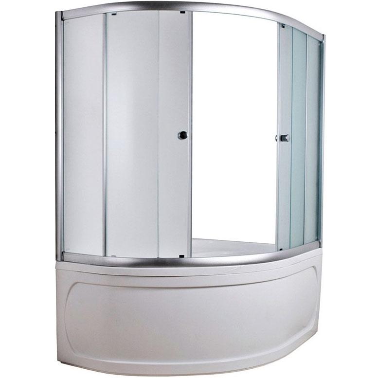 Шторка на ванну 1MarKa Imago 160 профиль Белый стекло матовое юбка imago imago mp002xw1genk