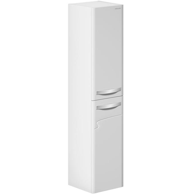 Шкаф пенал Edelform Nota 38 с бельевой корзиной подвесной Белый глянец 3-619-00