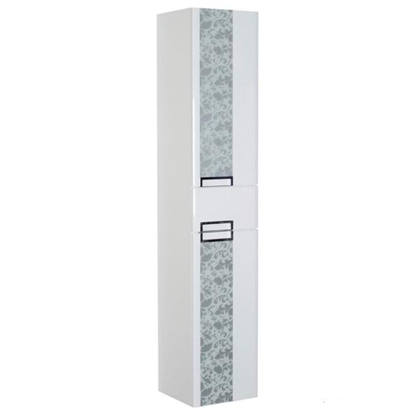 Edel 35 Белый глянецМебель для ванной<br>Шкаф-пенал Edelform Edel 35 3-610-00 подвесной.<br>Изготовлен из МДФ повышенной плотности.<br>Многослойное покрытие Edelform Crystal с применением эмали Milesi (Италия).<br>Запеченная кромка корпусных деталей обеспечивает долговечность.<br>Экологическая безопасность всех материалов.<br>Дверки со встроенными доводчиками.<br>Две вкладные полки.<br>Цвет фасада: белый глянец.<br>Декорирован стеклянными вставками с рисунком.<br>Монтаж: подвесной.<br>Гладкая глянцевая поверхность.<br>Габариты: 35x35x159.5 см.<br>В комплекте поставки: шкаф-пенал.<br>