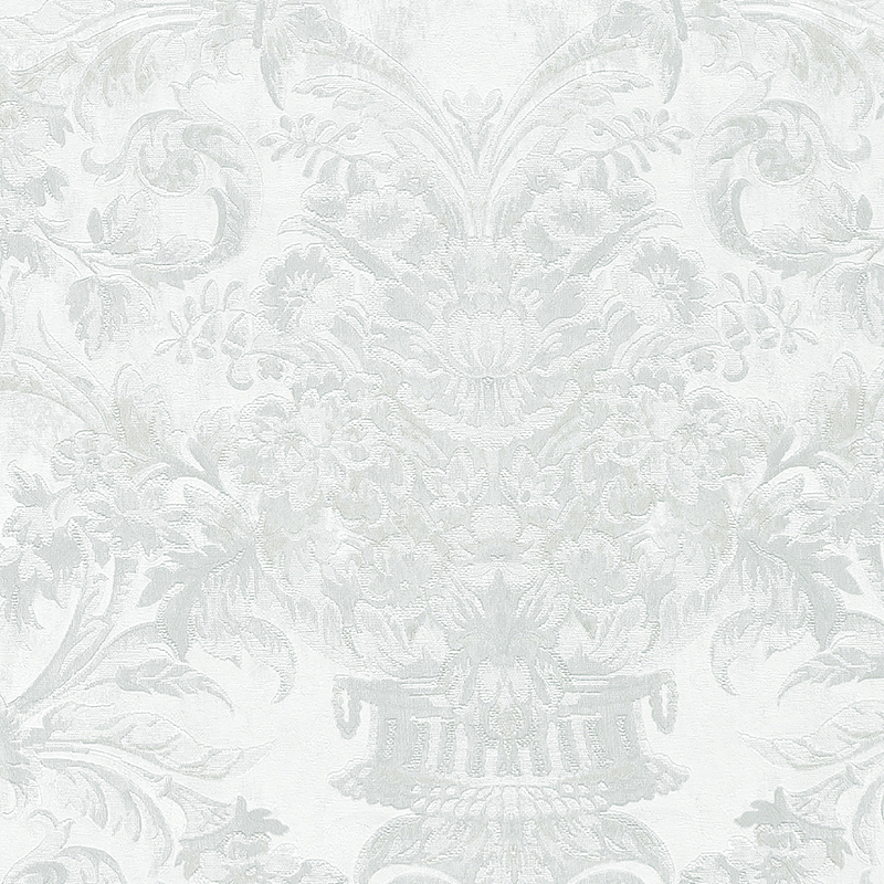 Обои Limonta Heritage 34106 Винил на флизелине (0,7*10,05) Серый/Белый, Орнамент/Вензель/Цветы